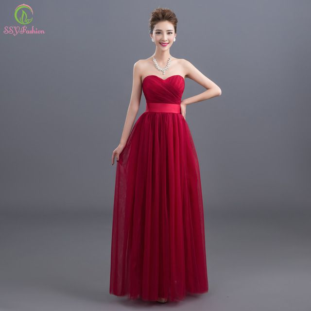 Robe De Soirée 2016 Nueva Novia Sin Mangas Largo Vino Tinto Vestido de  noche de la Novia Banquete Elegante vestido de Fiesta Vestido de Fiesta Más  Tamaño ... f29f0ea38e42