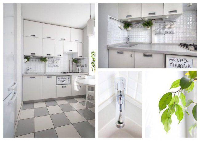 Дизайн и планировка белой кухни 5 кв м (9 фото) | Дизайн ...