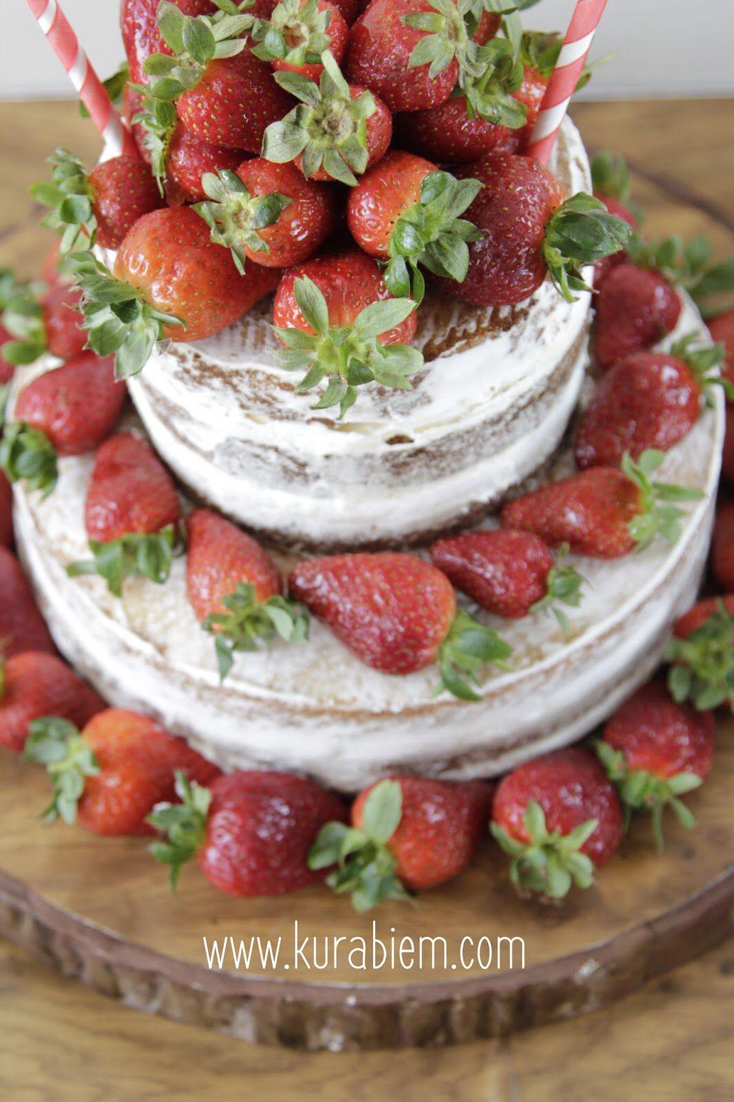 Naked Cake çıplak Paata çilekli Pasta Strawberry Cake - Birthday cake vanilla
