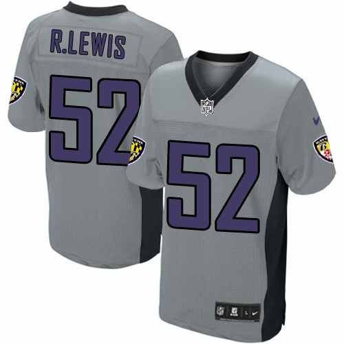 740b393a1 ... Jersey - Ray Baltimore Ravens http52 Ray Lewis NIKE Shadow Grey Mens Game  NFL ...