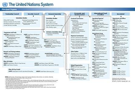 UN = ONU. Todos sus organismos.
