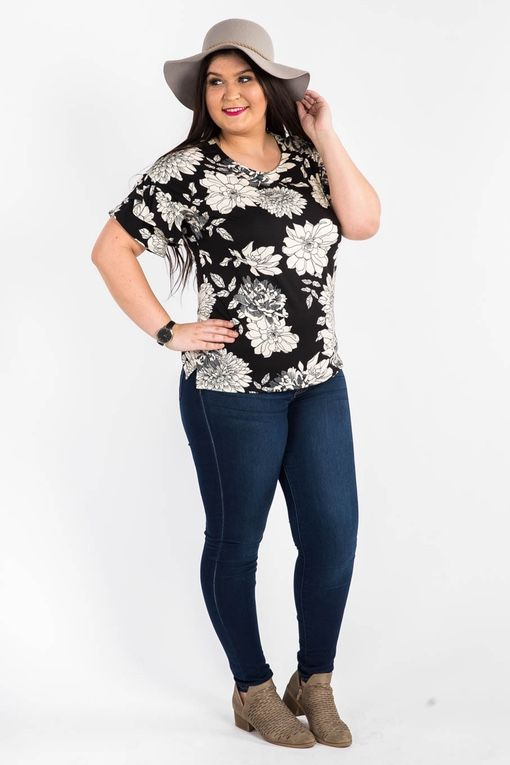 Frill Sleeve Top One Fine Day Black and Ivory $38.00 USD www.shopyourbliss.com