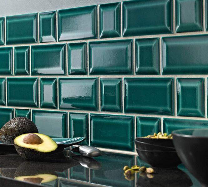 Carrelage Métro à La Station Cuisine Inspiration Cuisine - Carrelage turquoise pour idees de deco de cuisine