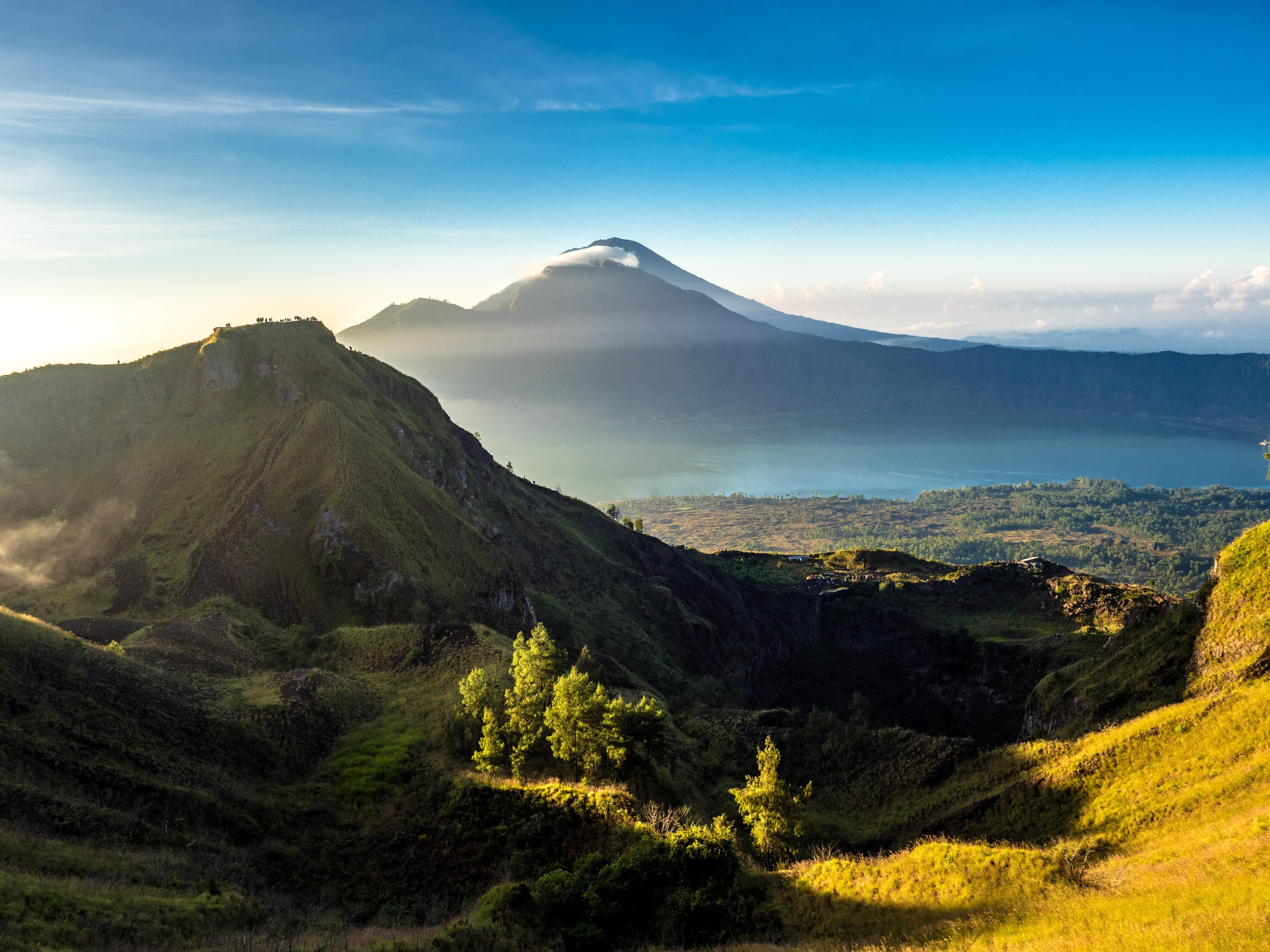 View Of Mt Agung From Mt Batur Bali Oc 4475x3356 Earth Pictures Beautiful Nature Bali