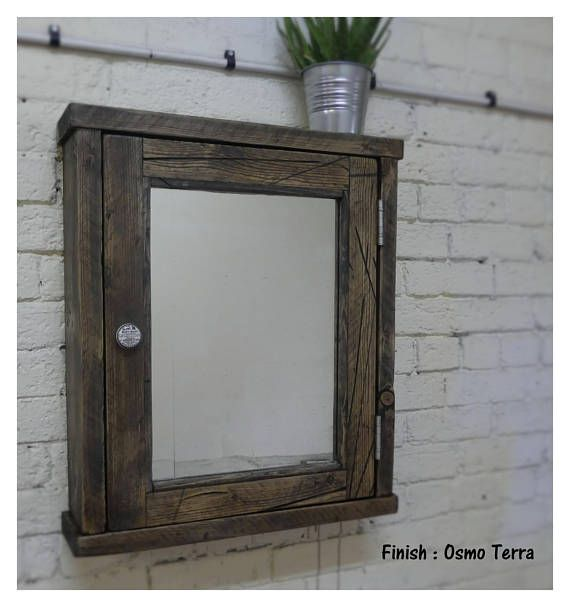 Windermere Mirror cabinet  Windermere adds real charm to the bathroom this cabinet comes with the & Windermere -Reclaimed Wood Mirror Cabinet handmade u0026 bespoke ...