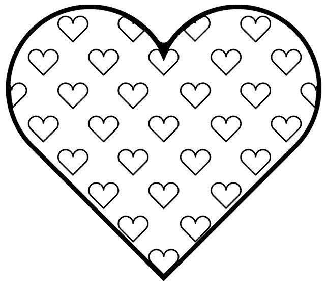 Kleurplaten Groot Hart.Groot Hart Versieren Met Verf Of Stof Valentin Nap Valentines
