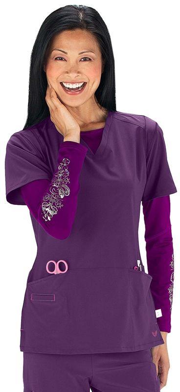 b2c58753a03 Scrubs - Smitten Rock Goddess Scrub Top | Smitten Scrubs | Brands |  www.LydiasUniforms.com