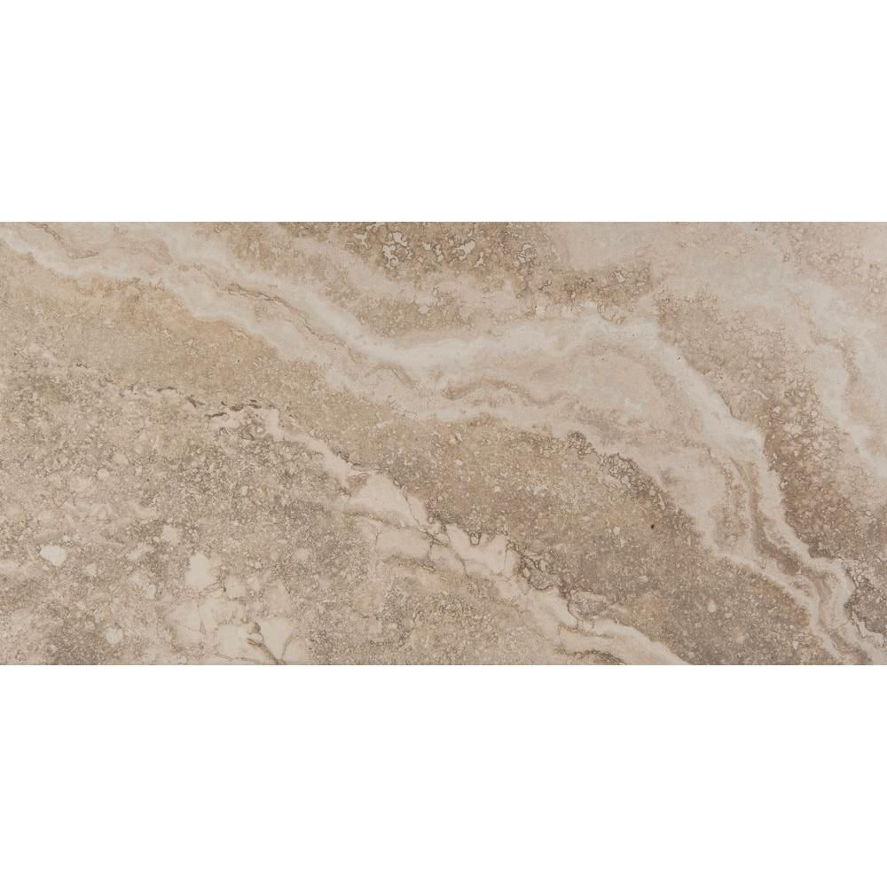 Riviera Cream 12 in. x 24 in. Porcelain Floor and Wall
