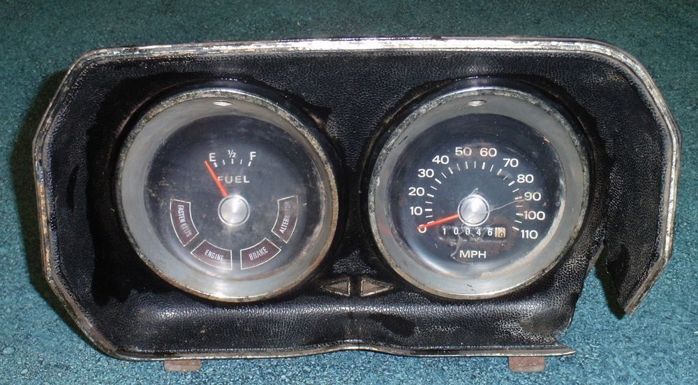 1972 73 74 ford pinto speedometer 110mph dash gauges gas