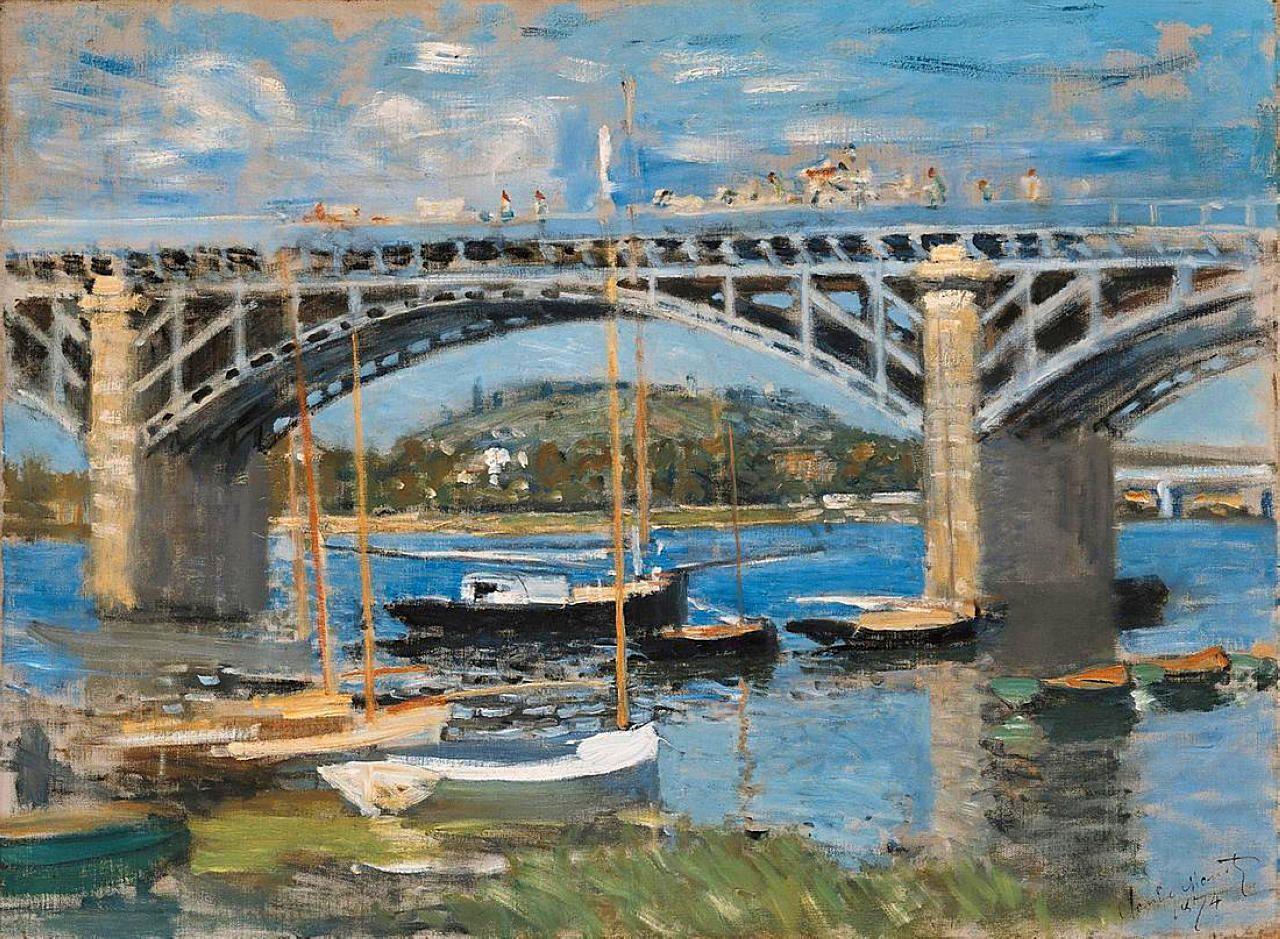 The Bridge over the Seine - Claude Monet | Izlenimcilik, Empresyonist,  Manzara resimleri