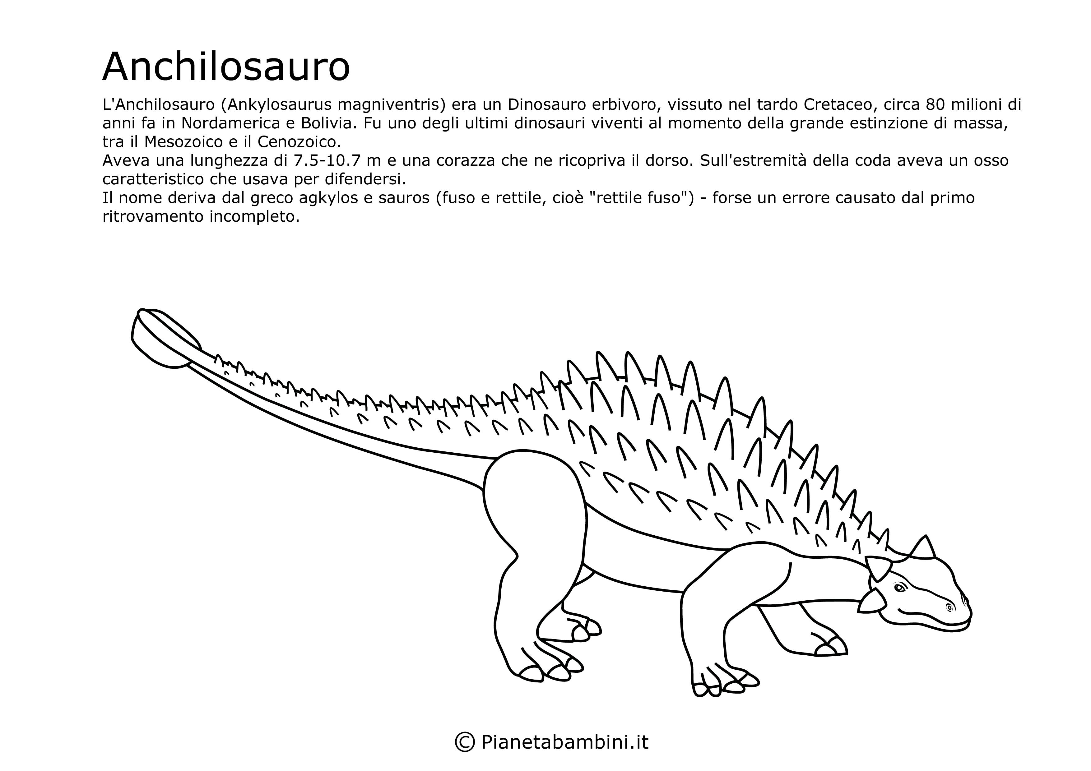 Disegni Di Dinosauri Da Ritagliare E Colorare Storia Dinosauri