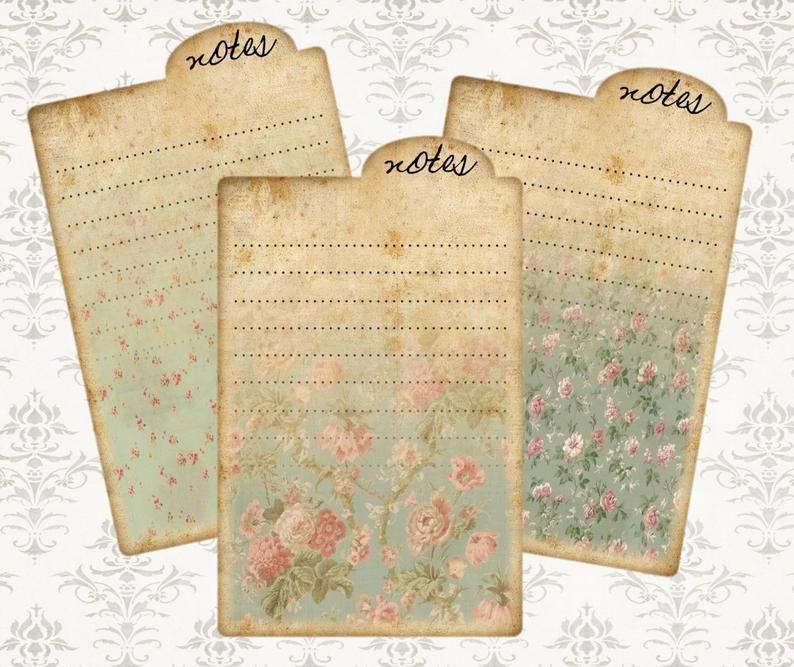 Vintage Floral Papers Notes Ephemera Atc Cards Junk Etsy In 2020 Printable Lined Paper Collage Sheet Diy Journal