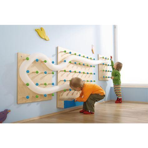 Wand steckbrett gro wandkugelbahn wandgestaltung m bel raumgestaltung krippe - Wandgestaltung kinder ...