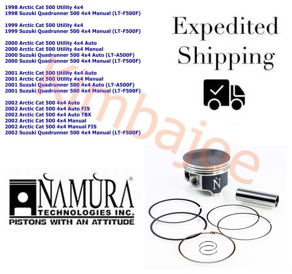 1998-2002 Arctic Cat Suzuki Quadrunner 500 Namura 87.50 mm STD Bore Piston  Kit