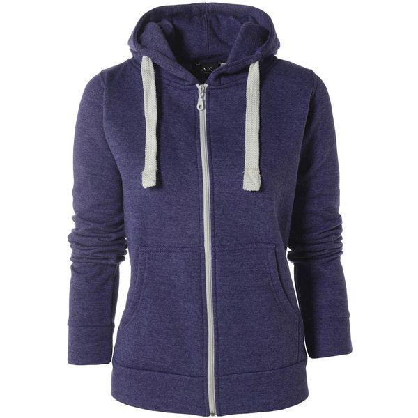 AX Paris Plain Purple Zipper Hoody (€8,24) ❤ liked on Polyvore featuring tops, hoodies, jackets, outerwear, sweaters, purple, zip front top, sweatshirt hoodies, purple hoodies and blue zip hoodie