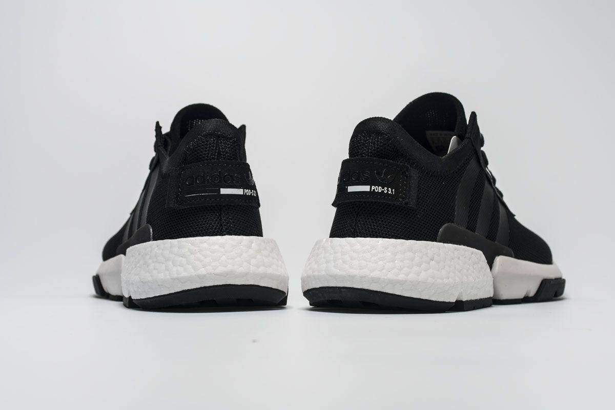 8dc08df43f1f69 Adidas POD S3.1 Boost B37466 Black White Shoes