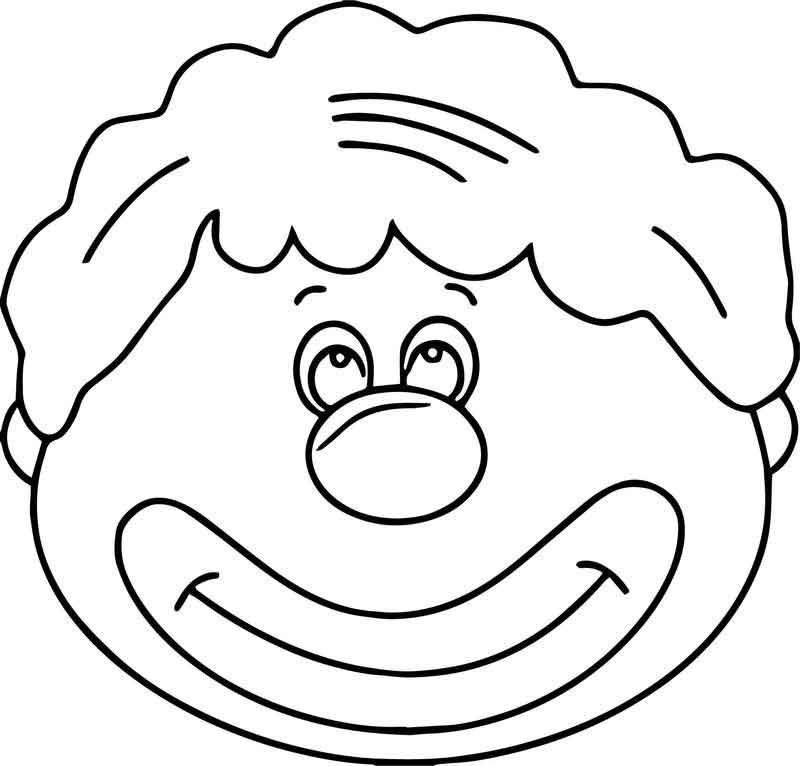 Nice Flower Clown Face Coloring Page Clown Faces Clown Crafts Coloring Pages