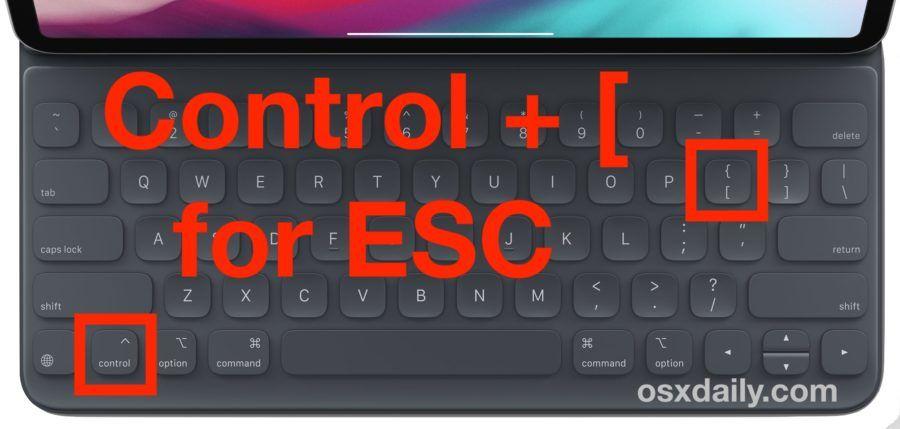 How to Type the Escape Key on iPad Keyboard Ipad