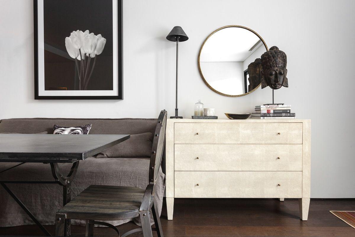 ^ elegance, shagreen chest and restoration hardware lamp Portfolio ...
