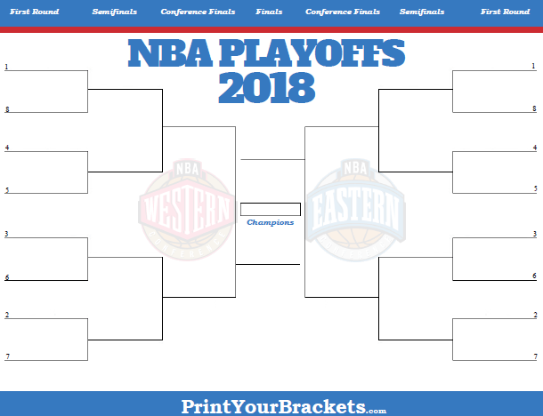 2018 NBA Playoff Bracket - Printable