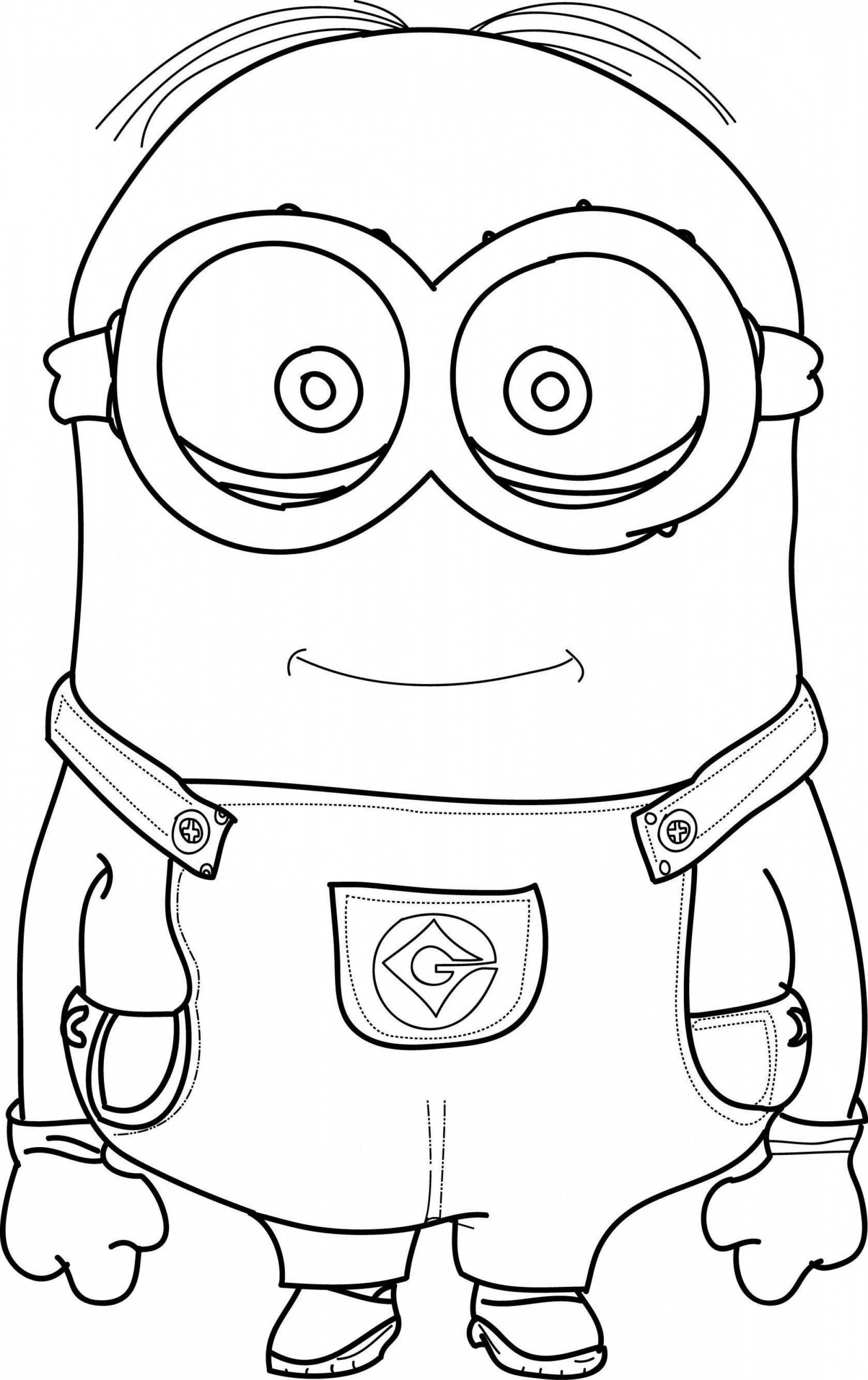 Despicable Me Coloring Pages Luxury Beautiful Minion Bob