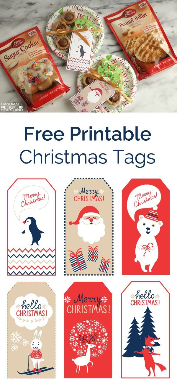 5 Tips for Cut Out Cookies + Free Christmas Tag Printable
