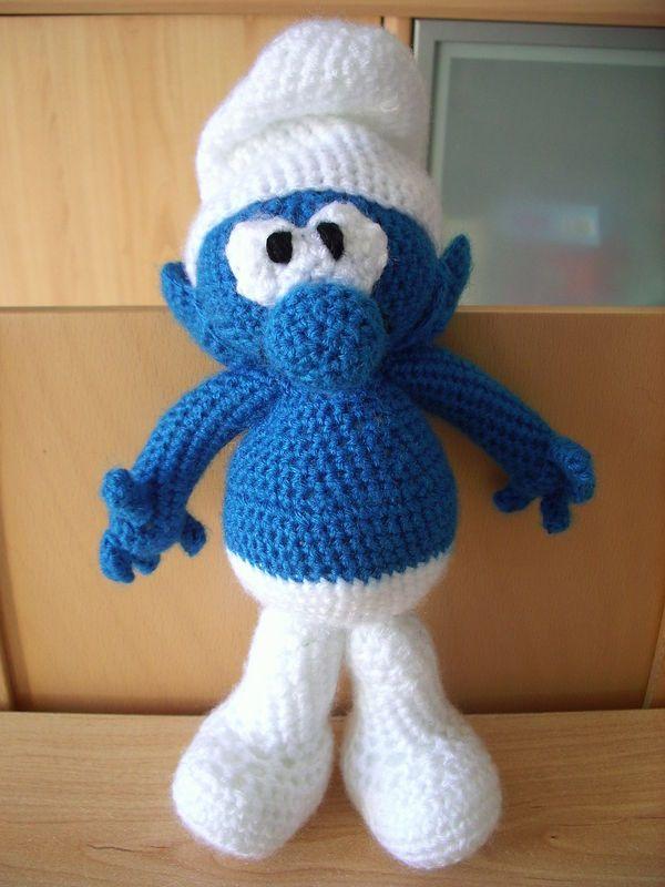 Un stroumph au crochet de chrisleti stroumph - Image de stroumph ...