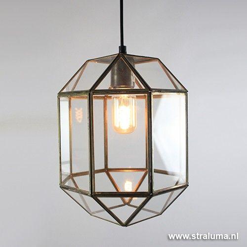 Søndersø hanglamp lantaarn glas gang - www.straluma.nl | Hal | Pinterest