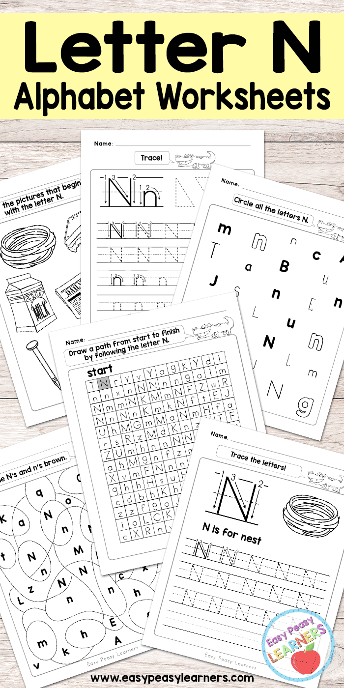 Free Printable Letter N Worksheets  Alphabet Worksheets Series