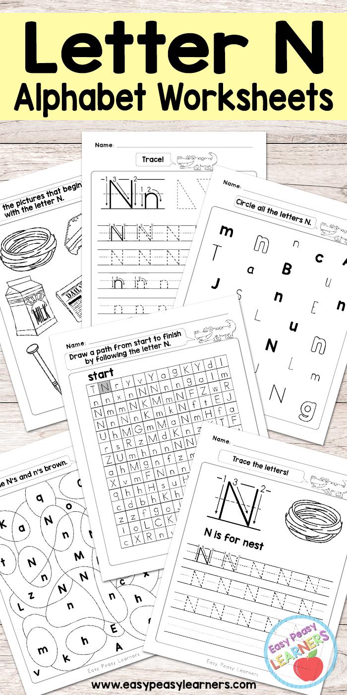 free printable letter n worksheets alphabet worksheets series all the top kid activity ideas. Black Bedroom Furniture Sets. Home Design Ideas