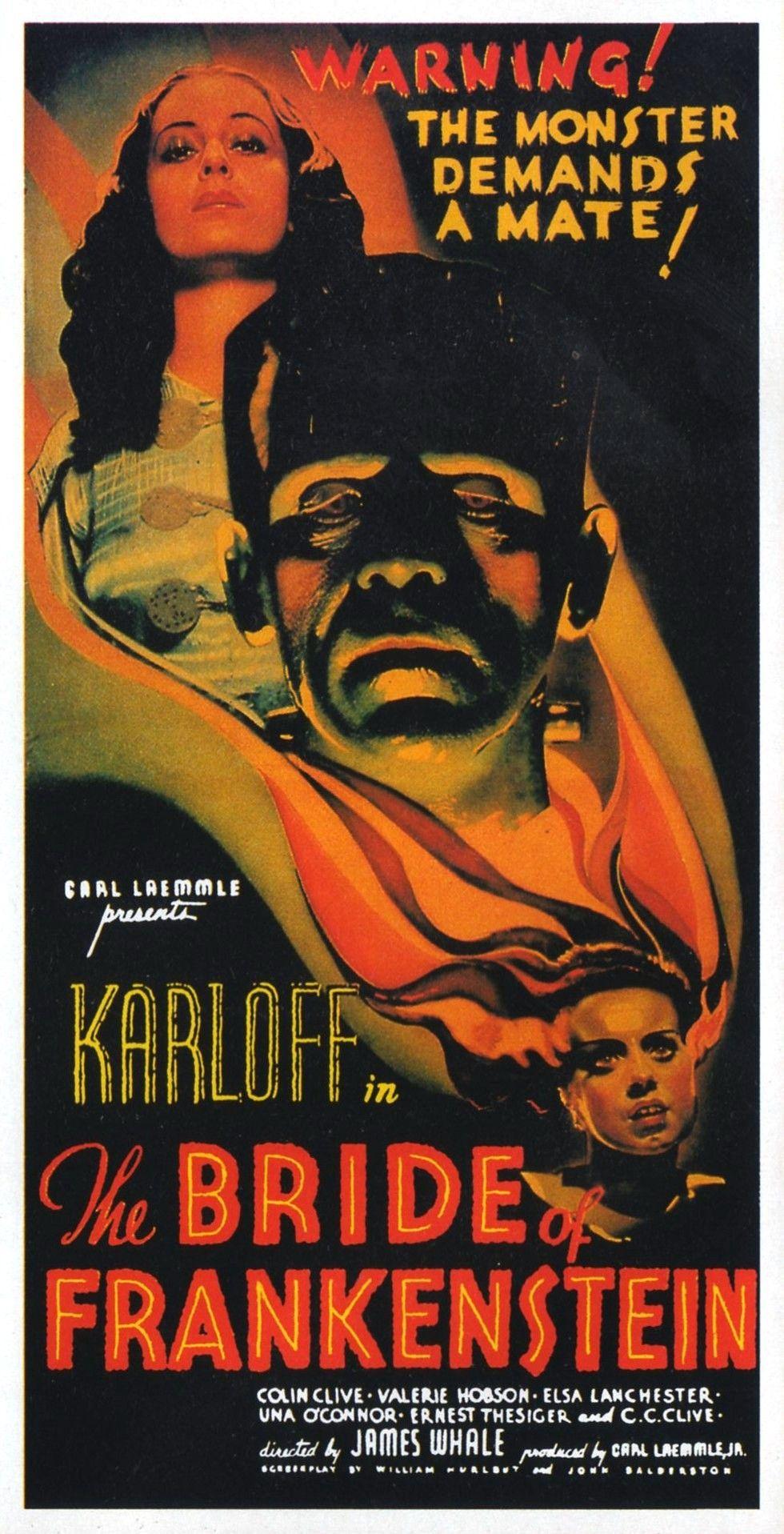 Boris Karloff Horror movie poster print 12 The Bride of Frankenstein 1935