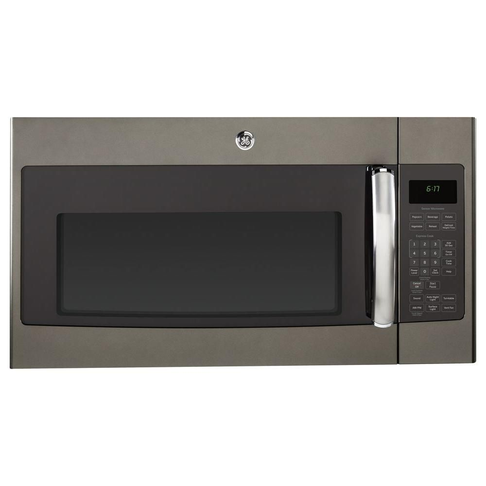 GE 1.7 cu. ft. Over the Range Microwave in Slate with Sensor Cooking-JVM6175EFES - The Home Depot