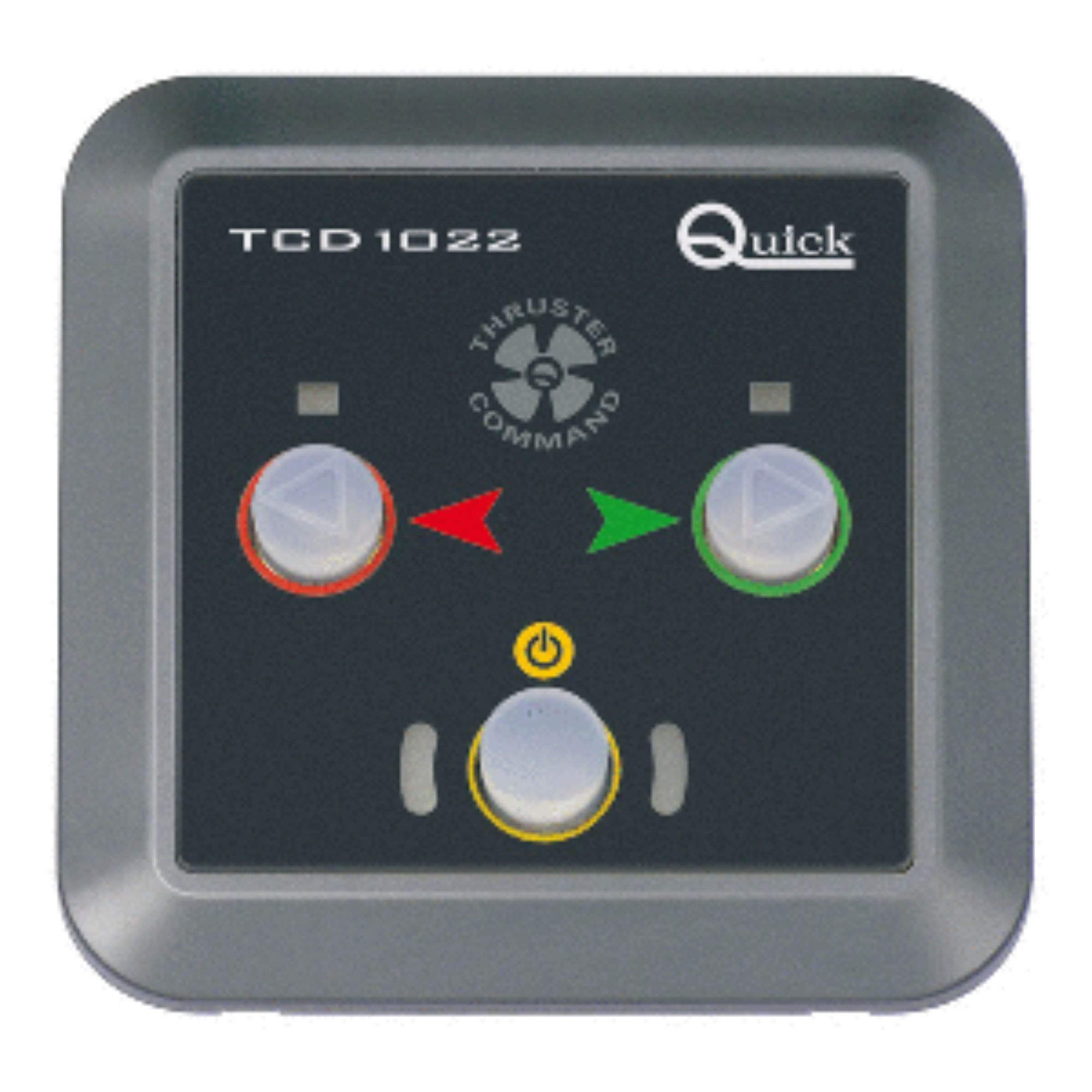 <p>You can now control the stern and bow thrusters with this push-button controller. With an ample power supply  it works conveniently at different temperatures. This important addition is a must-have.    <p><b>Product Features:</b>  <br>TCD1022 thruster push button controller  <br>Manufactured by Quick USA  <br>Perfect addition to your boating accessory  <br>Recommended for indoor use only    <p>Dimensions: 3