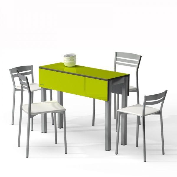 Table Petit Espace En Verre Avec Allonges Piccola 2 Coffee