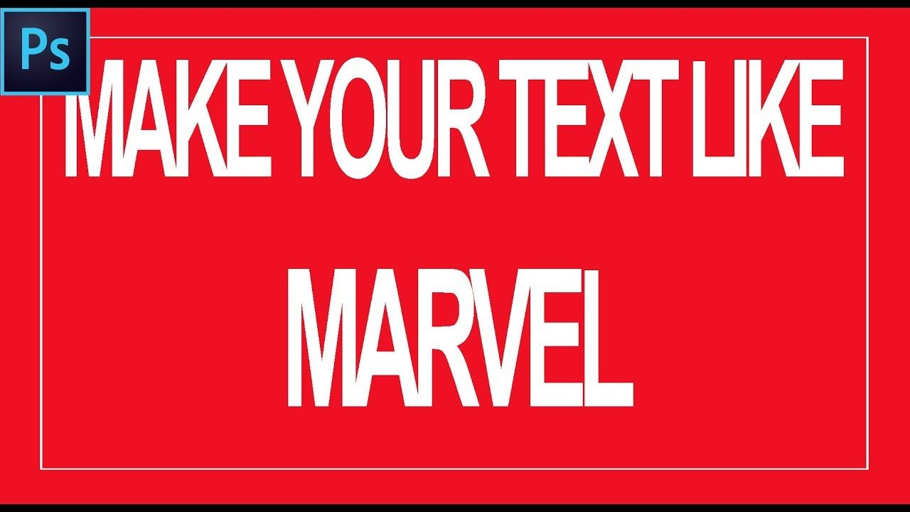Create awesome marvel text in photoshop marvel font adobe create awesome marvel text in photoshop marvel font adobe photoshop ccuart Image collections