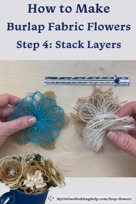 Easy DIY Burlap Fabric Flowers -   17 fabric crafts Videos clothes ideas