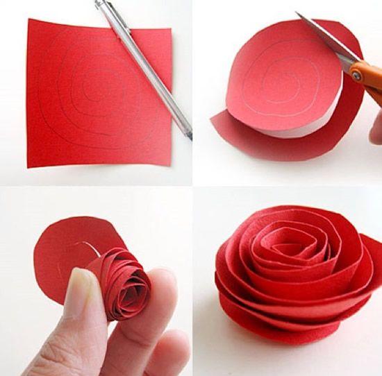 5 Tipos Diferentes De Flores De Papel Para Decoração Rosas