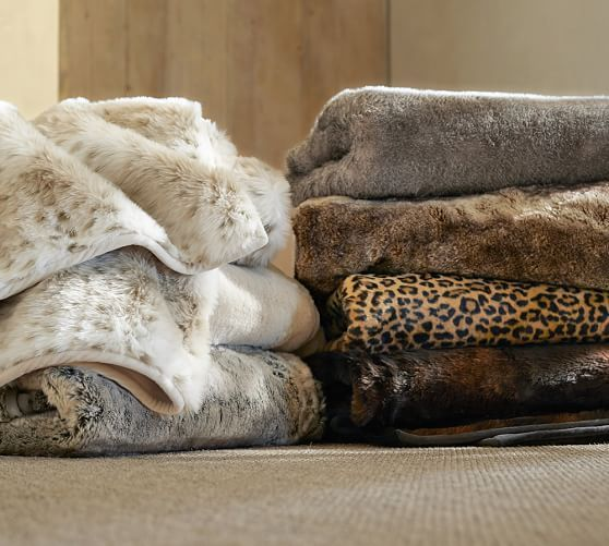 Faux Fur Oversized Throw Pottery Barn I Want This For