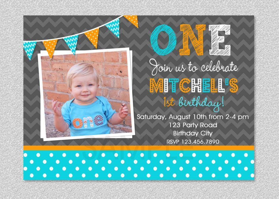 Printableofstbirthdayinvitationforbabyboyswithcolorful - Baby boy birthday invitation card design