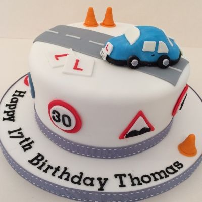 Pleasant Learner Driver Cake With Images Cars Birthday Cake 17 Funny Birthday Cards Online Fluifree Goldxyz