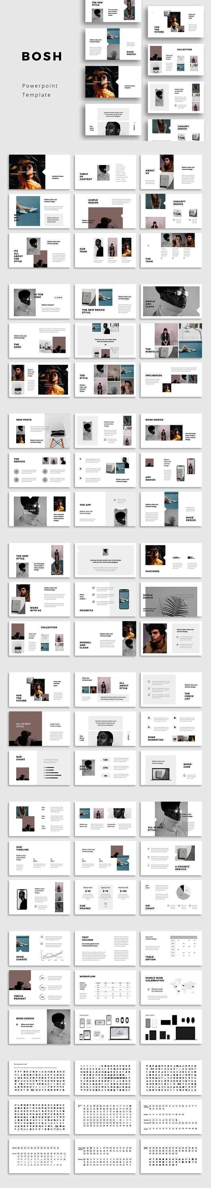Powerpoint Template BOSH  Powerpoint Template by PixaSquare on creativemarket minimalBOSH  Powerpoint Template by PixaSquare on creativemarket minimal Powerpoint Template...