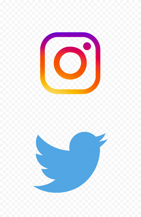 Hd Instagram Twitter Vertical Logos Icons Png In 2021 Logo Icons Logos Icon