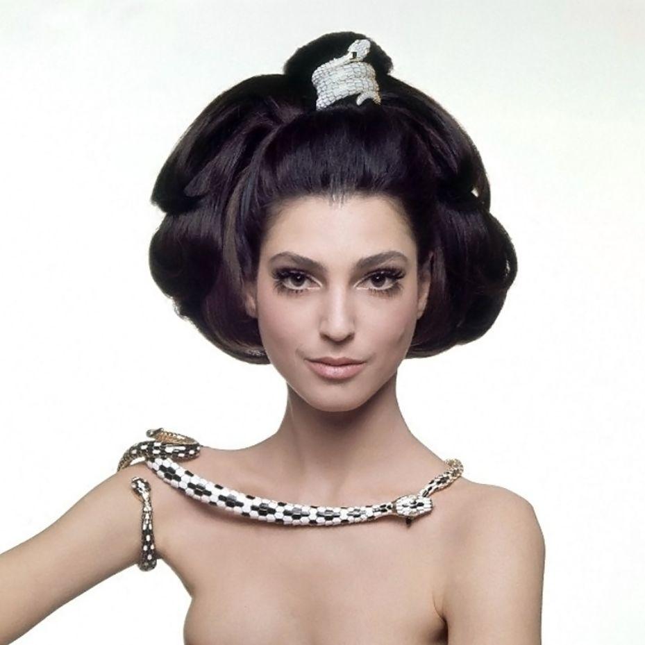 Benedetta Barzini Wearing Bulgari Jewelry Photo By Gian