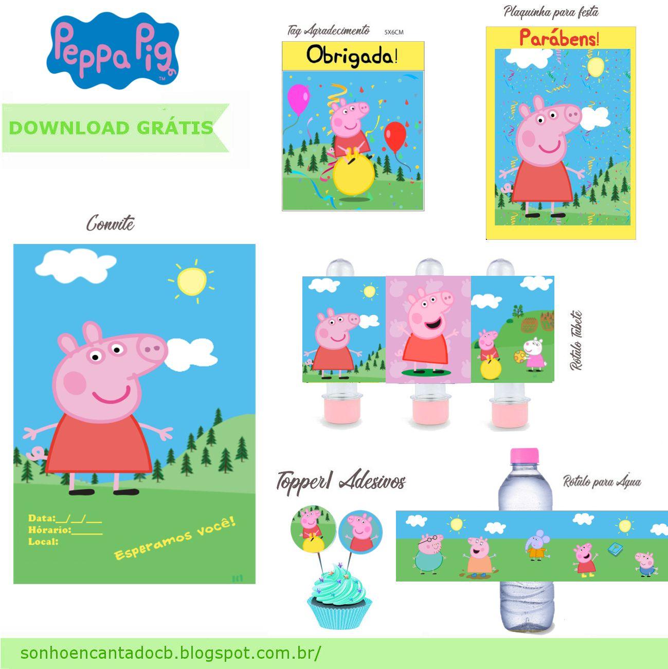 Kit Festa Peppa Pig Gratis Kit Festa Peppa Pig Para Imprimir Festa