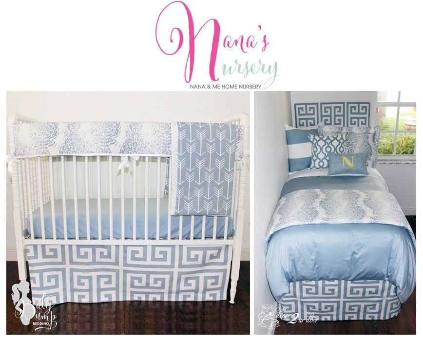 Blue Nursery Bedding Perfect For Nana S And Home Collection Coordinating Crib Twin Full Queen King Set