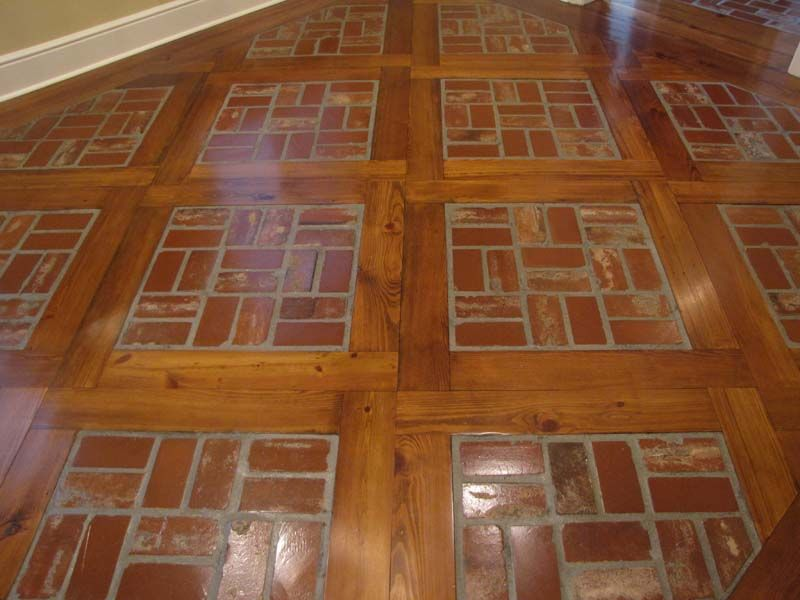 Old St Louis Antique Brick Floor With Wood Beautiful