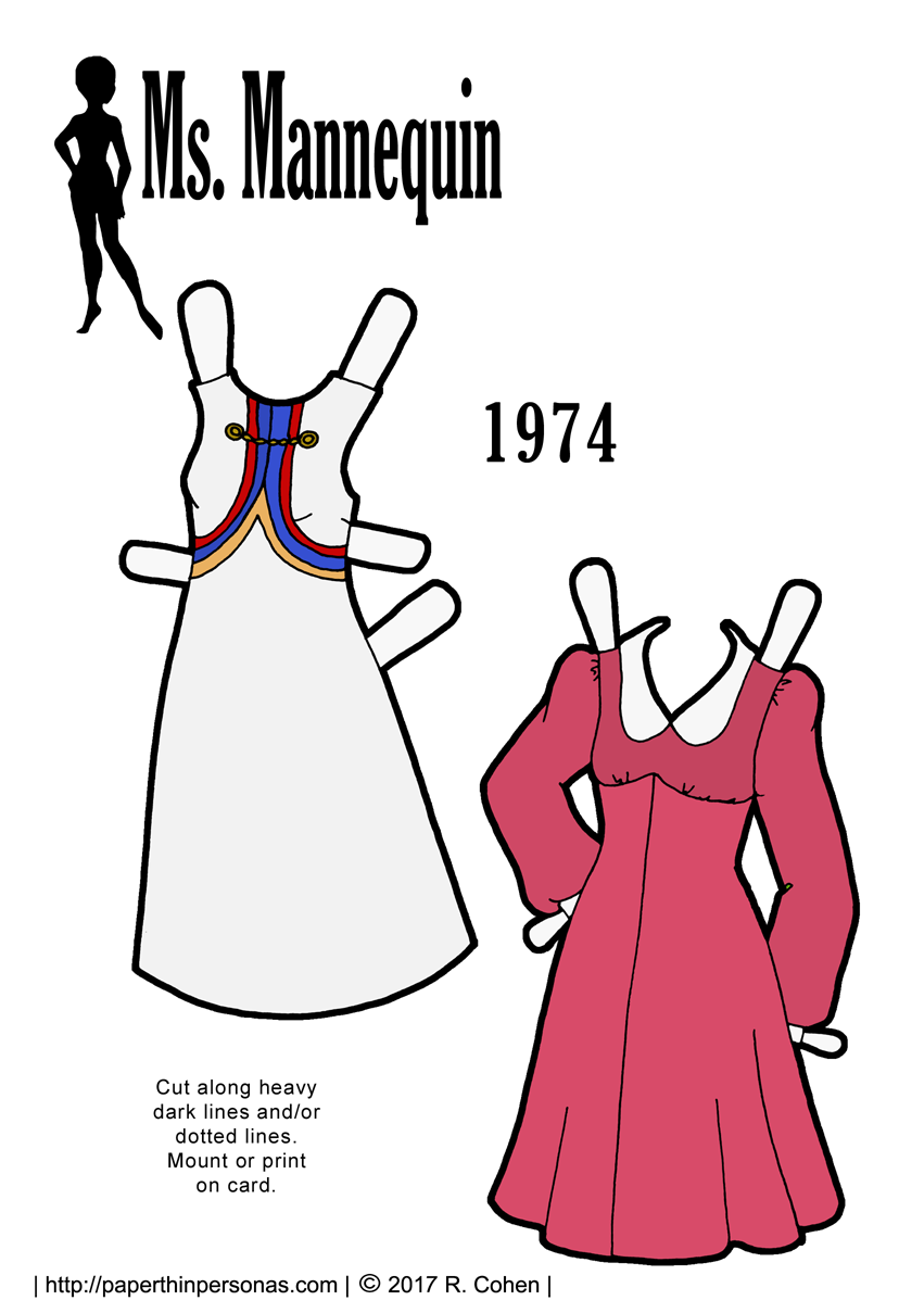 ms-mann-1974-dresses-paper-doll-color.png (828×1209) | Sewing ...