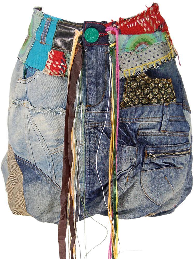 jupe boule jean desigual altered jeans pinterest. Black Bedroom Furniture Sets. Home Design Ideas