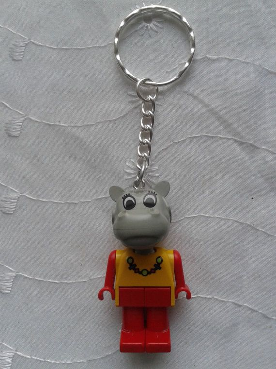 Fabuland Hannah Hippo  minifigure keychain by simplyproducts