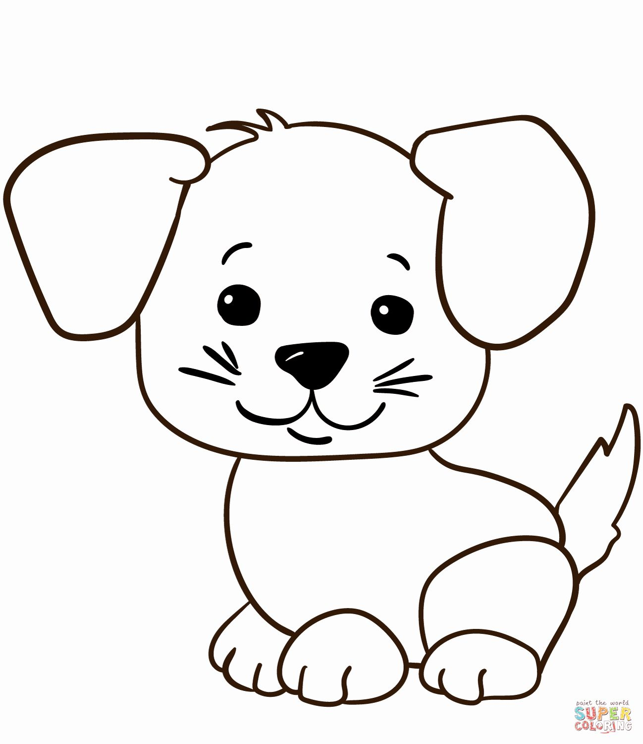 Cute Puppy Coloring Pages Printable Luxury Coloring Book